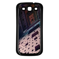 Industry Fractals Geometry Graphic Samsung Galaxy S3 Back Case (Black)