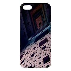 Industry Fractals Geometry Graphic iPhone 5S/ SE Premium Hardshell Case