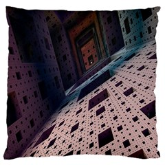 Industry Fractals Geometry Graphic Large Flano Cushion Case (Two Sides)