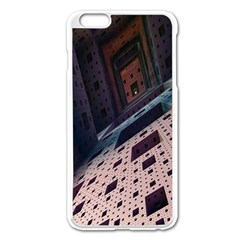 Industry Fractals Geometry Graphic Apple iPhone 6 Plus/6S Plus Enamel White Case