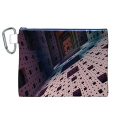 Industry Fractals Geometry Graphic Canvas Cosmetic Bag (XL)