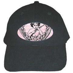 Heart Drawing Angel Vintage Black Cap