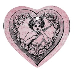 Heart Drawing Angel Vintage Ornament (Heart)