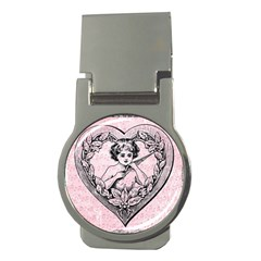 Heart Drawing Angel Vintage Money Clips (Round)