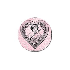 Heart Drawing Angel Vintage Golf Ball Marker (4 pack)