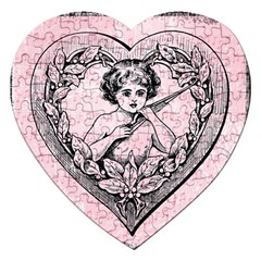 Heart Drawing Angel Vintage Jigsaw Puzzle (Heart)