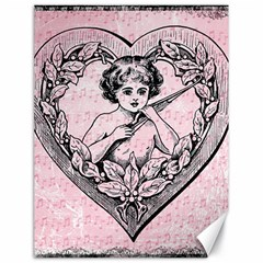 Heart Drawing Angel Vintage Canvas 18  x 24