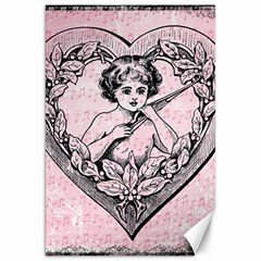 Heart Drawing Angel Vintage Canvas 20  x 30