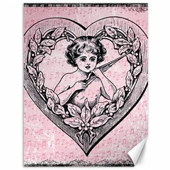Heart Drawing Angel Vintage Canvas 36  x 48