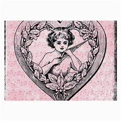 Heart Drawing Angel Vintage Large Glasses Cloth