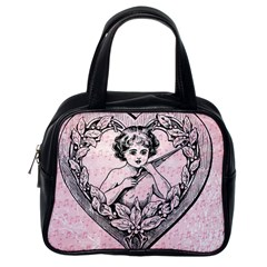 Heart Drawing Angel Vintage Classic Handbags (One Side)