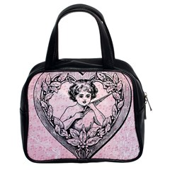 Heart Drawing Angel Vintage Classic Handbags (2 Sides)