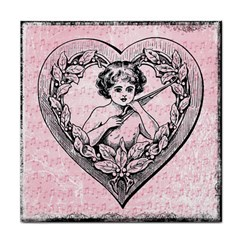 Heart Drawing Angel Vintage Face Towel