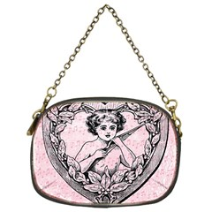 Heart Drawing Angel Vintage Chain Purses (One Side)