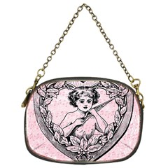 Heart Drawing Angel Vintage Chain Purses (Two Sides)