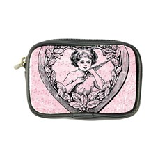 Heart Drawing Angel Vintage Coin Purse