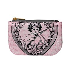 Heart Drawing Angel Vintage Mini Coin Purses