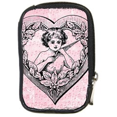 Heart Drawing Angel Vintage Compact Camera Cases