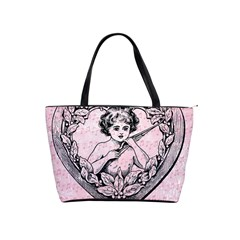 Heart Drawing Angel Vintage Shoulder Handbags