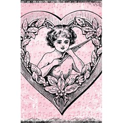 Heart Drawing Angel Vintage 5.5  x 8.5  Notebooks