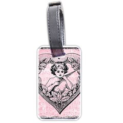 Heart Drawing Angel Vintage Luggage Tags (Two Sides)