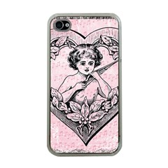 Heart Drawing Angel Vintage Apple iPhone 4 Case (Clear)