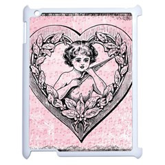 Heart Drawing Angel Vintage Apple iPad 2 Case (White)