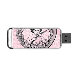 Heart Drawing Angel Vintage Portable USB Flash (One Side)
