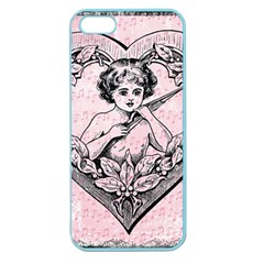 Heart Drawing Angel Vintage Apple Seamless iPhone 5 Case (Color)