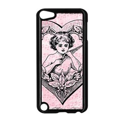 Heart Drawing Angel Vintage Apple iPod Touch 5 Case (Black)