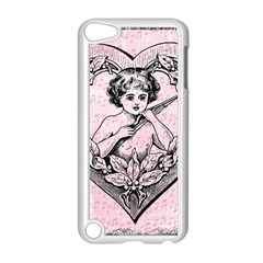 Heart Drawing Angel Vintage Apple iPod Touch 5 Case (White)