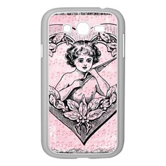 Heart Drawing Angel Vintage Samsung Galaxy Grand DUOS I9082 Case (White)