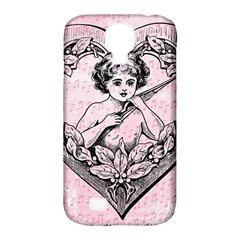 Heart Drawing Angel Vintage Samsung Galaxy S4 Classic Hardshell Case (PC+Silicone)