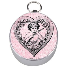 Heart Drawing Angel Vintage Silver Compasses