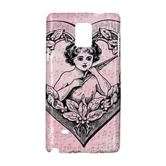 Heart Drawing Angel Vintage Samsung Galaxy Note 4 Hardshell Case