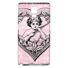 Heart Drawing Angel Vintage Galaxy Note 4 Back Case