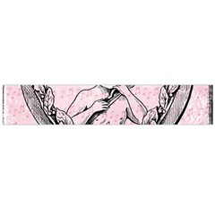 Heart Drawing Angel Vintage Flano Scarf (Large)