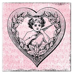 Heart Drawing Angel Vintage Large Satin Scarf (Square)