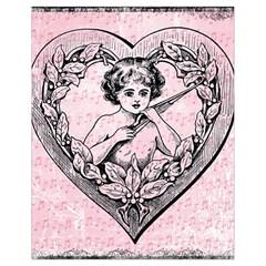 Heart Drawing Angel Vintage Drawstring Bag (Small)