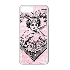 Heart Drawing Angel Vintage Apple iPhone 7 Plus White Seamless Case