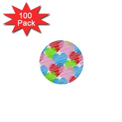 Holidays Occasions Valentine 1  Mini Buttons (100 pack)