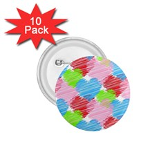 Holidays Occasions Valentine 1.75  Buttons (10 pack)