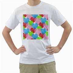 Holidays Occasions Valentine Men s T-Shirt (White) (Two Sided)