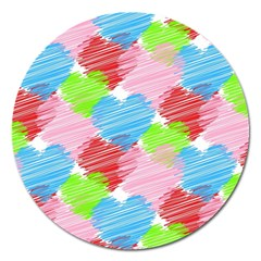 Holidays Occasions Valentine Magnet 5  (Round)