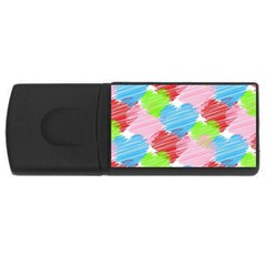 Holidays Occasions Valentine USB Flash Drive Rectangular (2 GB)
