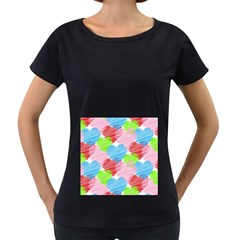 Holidays Occasions Valentine Women s Loose-Fit T-Shirt (Black)