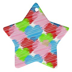 Holidays Occasions Valentine Star Ornament (Two Sides)