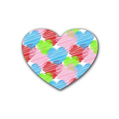 Holidays Occasions Valentine Rubber Coaster (Heart)