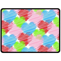 Holidays Occasions Valentine Double Sided Fleece Blanket (Large)