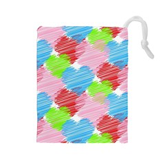 Holidays Occasions Valentine Drawstring Pouches (Large)